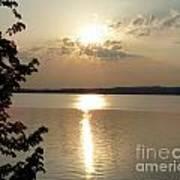 Sunset On Delta Lake Art Print