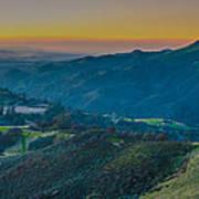 Sunset On Figueroa Mountain Art Print
