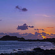 Sunset On Guernsey Art Print