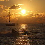 Sunset Over Key West Art Print