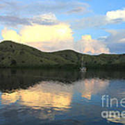 Sunset On Komodo Art Print