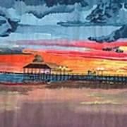 Sunset On Lake Jackson Art Print