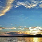 Sunset On Lake Wentworth Art Print by Richard Lent