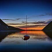 Sunset On Lake Willoughby Art Print