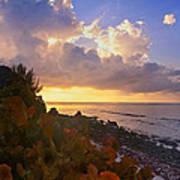 Sunset On Little Cayman Art Print