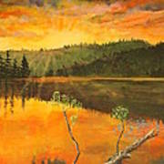Sunset On Navajo Lake Art Print