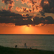 Sunset On Race Point Beach Art Print