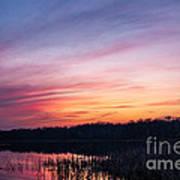 Sunset On Teeple Lake Art Print
