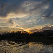 Sunset On The Amazon 1 Art Print