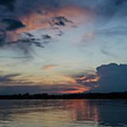 Sunset On The Amazon 3 Art Print