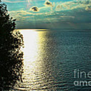 Sunset On The Bay Of Green Bay Wi Art Print