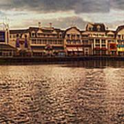Sunset On The Boardwalk Walt Disney World Art Print