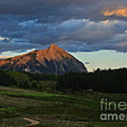 Sunset On The Butte Art Print
