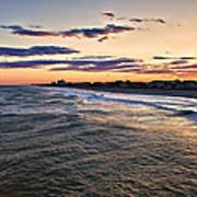 Sunset On The Coast Art Print