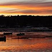 Sunset On The Harbor Art Print