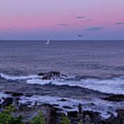 Sunset On The Marginal Way In Ogunquit Maine Art Print