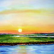 Sunset On The Marsh Art Print