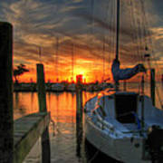 Sunset On The Outter Banks Art Print