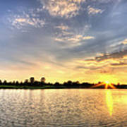 Sunset On The Pond Art Print