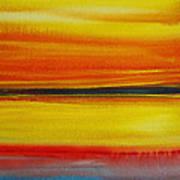 Sunset On The Puget Sound Art Print