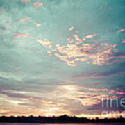 Sunset On The River In The Peruvian Amazon Jungle Art Print