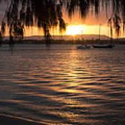 Sunset On The River Art Print