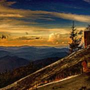 Sunset On Top Of Mount Mitchell Art Print