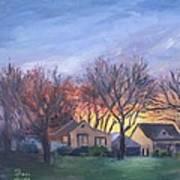 Sunset On Travis Ave. Art Print