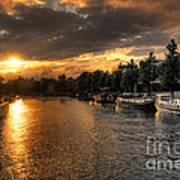 Sunset Over Amsterdam  Art Print