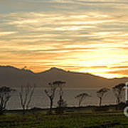 Sunset Over Arran Art Print