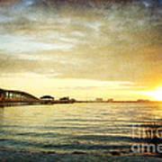 Sunset Over Biloxi Bay Art Print