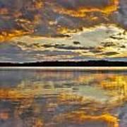 Sunset Over Canobie Lake Art Print