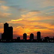 Sunset Over Chicago 0349 Art Print