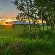 Sunset Over Farmers Field Art Print