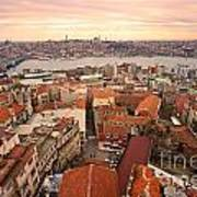 Sunset Over Istanbul Art Print