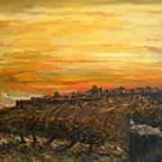 Sunset Over Jerusalem Art Print