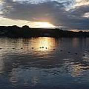 Sunset Over Lake George Art Print