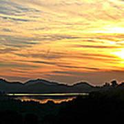Sunset Over Lake Wohlford Art Print