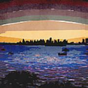 Sunset Over Miami Art Print