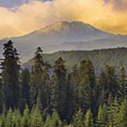 Sunset Over Mount St Helens Art Print