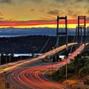 Sunset Over Narrows Bridges Art Print
