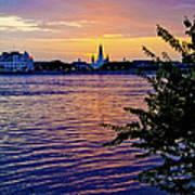 Sunset Over New Orleans 1 Art Print