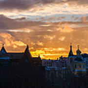 Sunset Over Old Moscow - Featured 2 Art Print