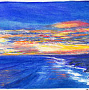 Sunset Over Point Lonsdale As Viewed From Cape Schanck  Art Print
