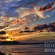 Sunset Over Rethymno Crete Art Print