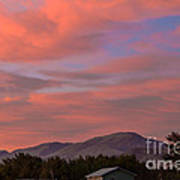 Sunset Over Squaw Butte Art Print