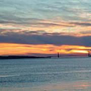 Sunset Over The Golden Gate Art Print