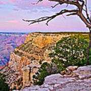 Sunset Over The Grand Canyon From South Rim Trail In Grand Canyon National Park-arizona   Art Print