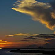 Sunset Over The Laguna Madre Art Print