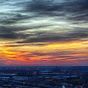 Sunset Over The Metro Art Print